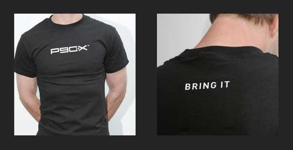 Mens P90X T-Shirt Black